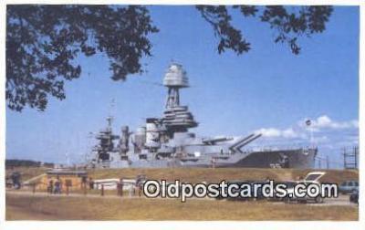 shi003882 - Texas, Houston, Texas, TX USA Military Battleship Postcard Post Card Old Vintage Antique