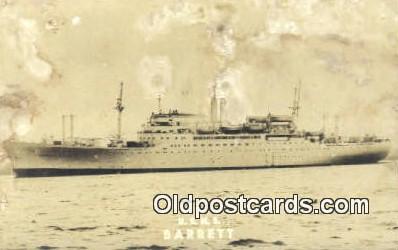 shi003883 - USNS, Barrett Military Battleship Postcard Post Card Old Vintage Antique