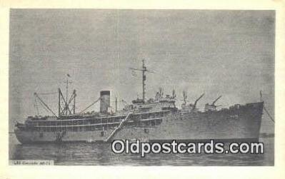 shi003886 - USS Cascade AD14 Military Battleship Postcard Post Card Old Vintage Antique