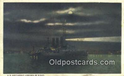 shi003888 - US Virginia Military Battleship Postcard Post Card Old Vintage Antique