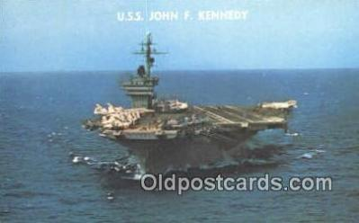 shi003892 - USS John F Kennedy Military Battleship Postcard Post Card Old Vintage Antique