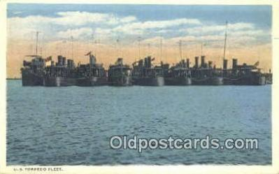 shi003904 - Us Torpedo Fleet Military Battleship Postcard Post Card Old Vintage Antique