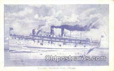 shi003910 - Theodore Roosevelt Boat, Chicago Postcard Post Card Old Vintage Antique