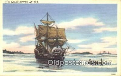 shi003912 - Mayflower Postcard Post Card Old Vintage Antique