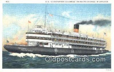 shi003913 - SS Christopher Columbus, Chicago, Illinois, IL USA Postcard Post Card Old Vintage Antique