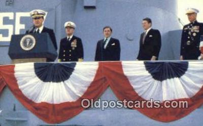 shi003925 - USS New Jersey, BB-62 Military Battleship Postcard Post Card Old Vintage Antique