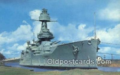 shi003935 - USS Texas, Houston, Texas, TX USA Military Battleship Postcard Post Card Old Vintage Antique