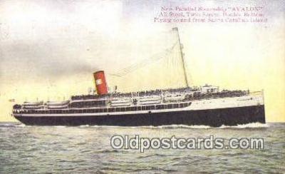 shi003946 - Steamship Avalon Postcard Post Card Old Vintage Antique