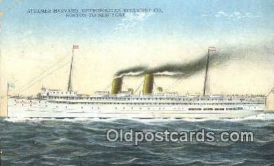 shi003948 - Steamer Harvard Postcard Post Card Old Vintage Antique