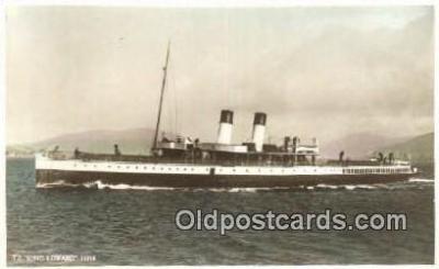 shi003949 - TS King Edward  Postcard Post Card Old Vintage Antique