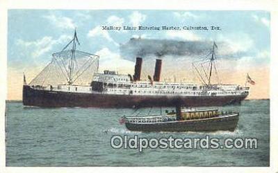 shi003957 - Mallory Liner, Galveston, Texas, TX USA Postcard Post Card Old Vintage Antique