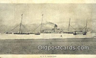 shi003961 - UST Sheridan Military Battleship Postcard Post Card Old Vintage Antique