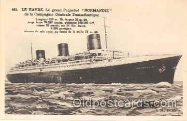 shi004005 - French Line Normandie Ship Ships Postcard Postcards