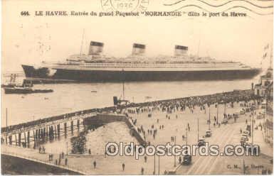 shi004018 - French Line Normandie Ship Ships Postcard Postcards