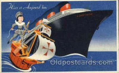 shi004024 - Normandie French Line Ship Ships Postcard Postcards