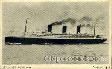 shi004025 - SS Ile de France French Line Ship Ships Postcard Postcards