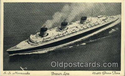 shi004026 - SS Normandie French Line Ship Ships Postcard Postcards