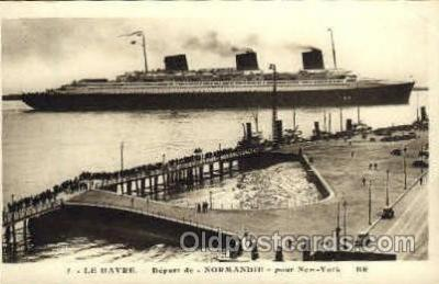 shi004034 - SS Normandie French Line Ship Ships Postcard Postcards