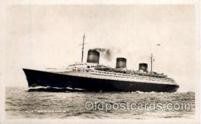 shi004035 - SS Normandie French Line Ship Ships Postcard Postcards