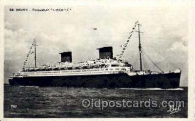 shi004036 - Liberte French Line Ship Ships Postcard Postcards