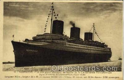 shi004037 - SS Normandie French Line Ship Ships Postcard Postcards