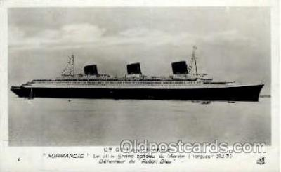 shi004039 - SS Normandie French Line Ship Ships Postcard Postcards