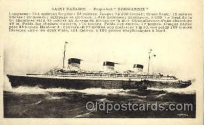 shi004047 - SS Normandie French Line Ship Ships Postcard Postcards