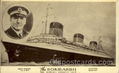 shi004048 - SS Normandie French Line Ship Ships Postcard Postcards
