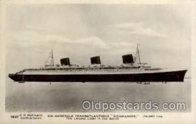 shi004060 - SS Normandie French Line Ship Ships Postcard Postcards