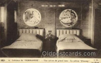 shi004079 - SS Normandie French Line Ship Ships Postcard Postcards