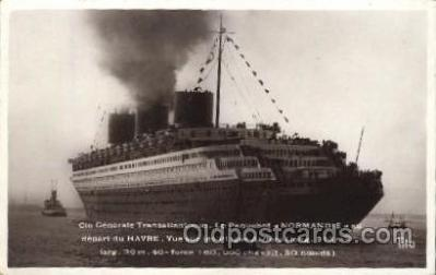 shi004081 - Le Paquebot NORMANDIE French Line, Lines, Ship Ships Postcard Postcards