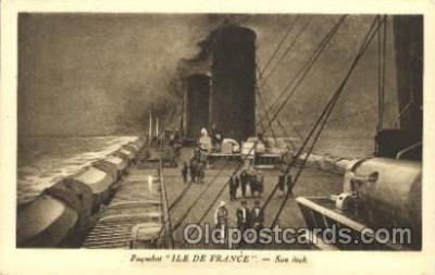 shi004104 - S.S. Ile de France French Line, Lines, Ship Ships Postcard Postcards