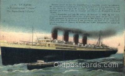 shi004107 - Le Havre French Line, Lines, Ship Ships Postcard Postcards