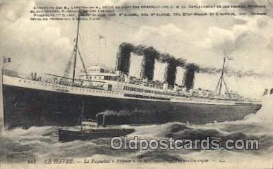 shi004108 - Le Havre French Line, Lines, Ship Ships Postcard Postcards