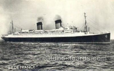 shi004112 - SS Ile De France Steamer, Steam Boat, Ship Ships, Postcard Postcards