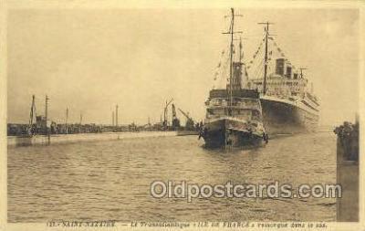 shi004114 - Saint Nazaire, Le Transatlanique Steamer, Steam Boat, Ship Ships, Postcard Postcards