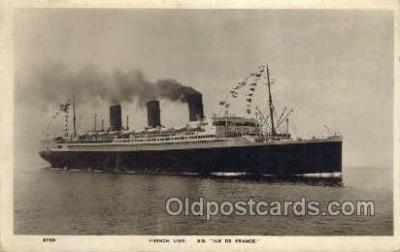 shi004117 - SS Ile De France Steamer, Steam Boat, Ship Ships, Postcard Postcards