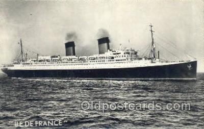 shi004119 - SS Ile De France Steamer, Steam Boat, Ship Ships, Postcard Postcards