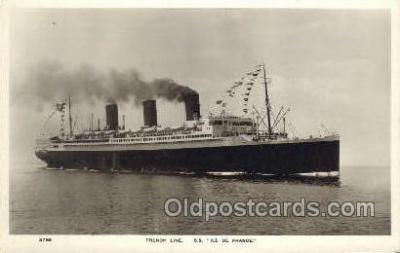 shi004121 - SS Ile De France Steamer, Steam Boat, Ship Ships, Postcard Postcards