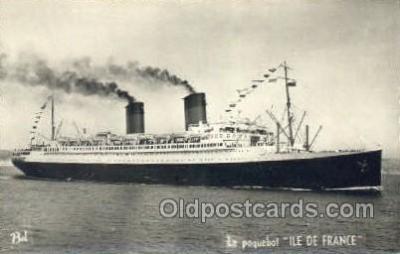 shi004122 - SS Ile De France Steamer, Steam Boat, Ship Ships, Postcard Postcards