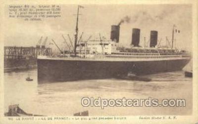 shi004124 - SS Ile De France Steamer, Steam Boat, Ship Ships, Postcard Postcards