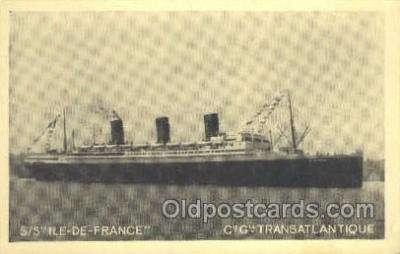 shi004125 - SS Ile De France Steamer, Steam Boat, Ship Ships, Postcard Postcards