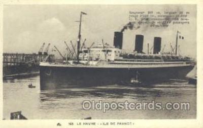 shi004129 - SS Ile De France Steamer, Steam Boat, Ship Ships, Postcard Postcards