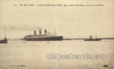 shi004130 - SS Ile De France Steamer, Steam Boat, Ship Ships, Postcard Postcards