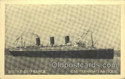 shi004135 - SS Ile De France Steamer, Steam Boat, Ship Ships, Postcard Postcards