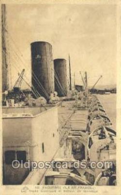 shi004144 - SS Ile De France Steamer, Steam Boat, Ship Ships, Postcard Postcards