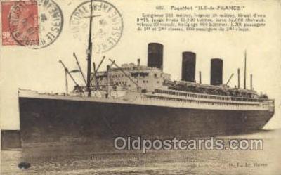 shi004151 - SS Ile De France Steamer, Steam Boat, Ship Ships, Postcard Postcards
