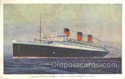 shi004152 - SS Ile De France Steamer, Steam Boat, Ship Ships, Postcard Postcards