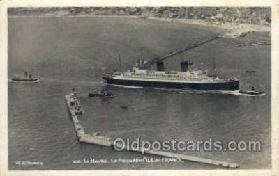shi004155 - SS Ile De France Steamer, Steam Boat, Ship Ships, Postcard Postcards
