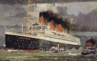 shi004158 - SS Ile De France Steamer, Steam Boat, Ship Ships, Postcard Postcards